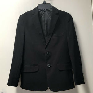 Boys Sz 10 CHAPS Suit Jacket Black Worn 1 X